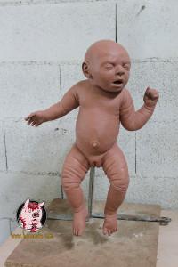 escultura bebe reborn